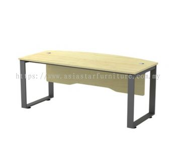 EXECUTIVE TABLE METAL O-LEG C/W WOODEN MODESTY PANEL SQWB 180A