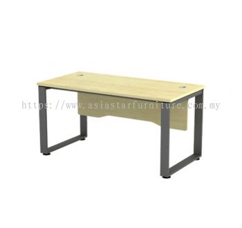 RECTANGULAR WRITING TABLE METAL O-LEG C/W WOODEN MODESTY PANEL SQWT 127