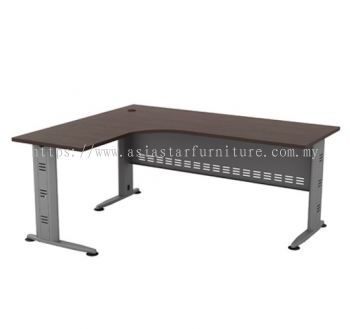 L-SHAPE TABLE METAL J-LEG C/W METAL MODESTY PANEL QL 1515(L)