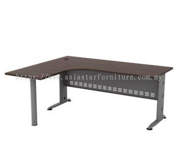 L-SHAPE TABLE METAL J-LEG C/W METAL MODESTY PANEL & METAL POLE LEG QL 1515-M(L)