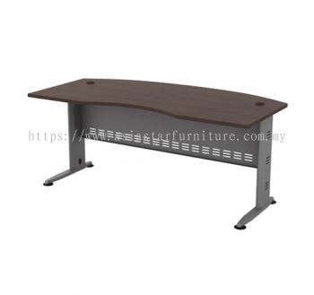 EXECUTIVE TABLE D-SHAPE CURVE METAL J-LEG C/W METAL MODESTY PANEL QMB 55