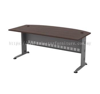 EXECUTIVE TABLE D-SHAPE METAL J-LEG C/W METAL MODESTY PANEL QMB 180A