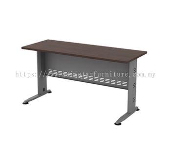 RECTANGULAR WRITING TABLE METAL J-LEG C/W METAL MODESTY PANEL (W/O TEL CAP) QT 126