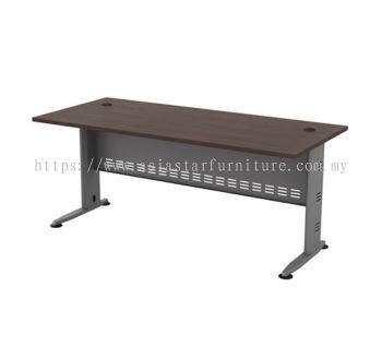 RECTANGULAR WRITING TABLE METAL J-LEG C/W METAL MODESTY PANEL QT 128