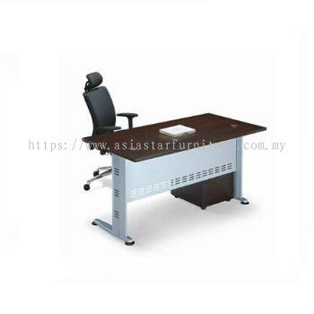 RECTANGULAR WRITING TABLE METAL J-LEG C/W MOBILE 3D QT128 SET 2