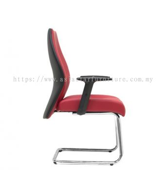 LUTON DIRECTOR VISITOR CHAIR C/W CHROME CANTILEVER BASE