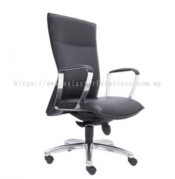 HALLFAX DIRECTOR MEDIUM BACK CHAIR C/W ALUMINIUM DIE-CAST BASE