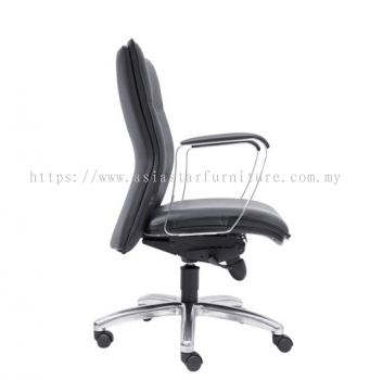 HALLFAX DIRECTOR LOW BACK CHAIR C/W ALUMINIUM DIE-CAST BASE