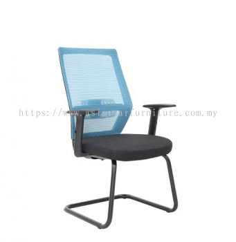 FILTON VISITOR MESH CHAIR C/W EPOXY BLACK CANTILEVER BASE