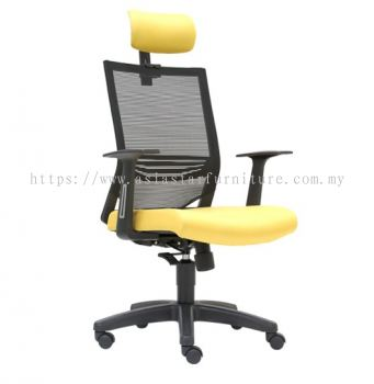 CARLTON HIGH BACK MESH CHAIR C/W POLYPROPYLENE BASE