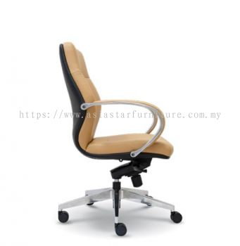 BUSSELTON DIRECTOR LOW BACK CHAIR WITH ALUMINIUM ROCKET DIE-CAST BASE