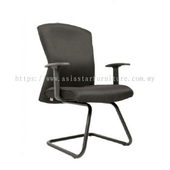 CHERRY STANDARD VISITOR CHAIR C/W EPOXY BLACK CANTILEVER BASE
