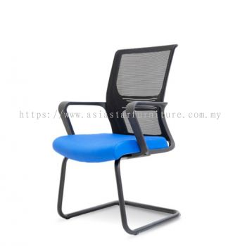 SHANKLIN VISITOR MESH BACK CHAIR C/W EPOXY BLACK CANTILEVER BASE