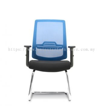 WIMBERLY VISITOR MESH BACK CHAIR C/W CHROME CANTILEVER BASE