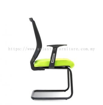 WIMBERLY VISITOR MESH BACK CHAIR C/W EPOXY BLACK CANTILEVER BASE