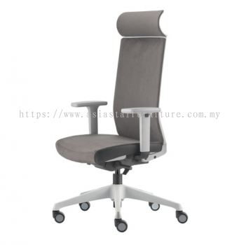 SURFACE HIGH BACK PU CHAIR C/W ROCKET NYLON BASE GREY ASF 8410P