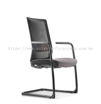 SURFACE VISITOR MESH BACK CHAIR C/W EPOXY BLACK CANTILEVER BASE (FABRIC) ASF 8413N
