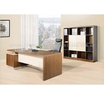 FERNI DIRECTOR TABLE WOODEN LEG C/W CABINET SET