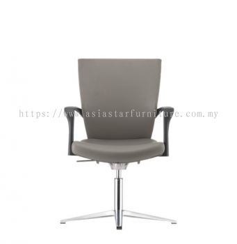 MAXIM VISITOR PU BACK CHAIR C/W 4 PRONGED BASE AMX 8114P