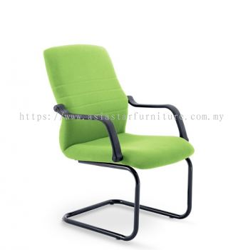 HOLA VISITOR BACK CHAIR C/W EPOXY BLACK CANTILEVER BASE