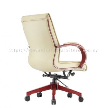 MAXIMO II (A) DIRECTOR MEDIUM BACK CHAIR C/W WOODEN ROCKET BASE