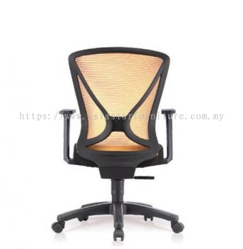 CROCUS 1 MEDIUM BACK MESH CHAIR FIXED ARMREST C/W POLYPROPYLENE BASE