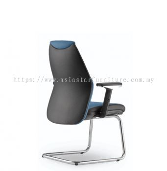ZINNIA EXECUTIVE VISITOR BACK CHAIR C/W CHROME CANTILEVER BASE