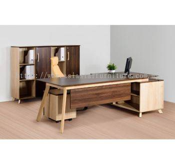 EXECUTIVE TABLE C/W SIDE CABINET PXI 2190