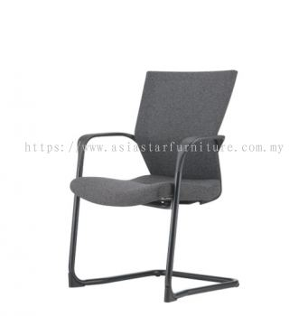 MAXIM VISITOR SOFTECH BACK CHAIR C/W EPOXY BLACK CANTILEVER BASE AMX 8113F