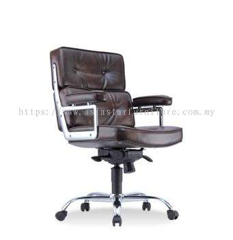 MODE DIRECTOR LOW BACK CHAIR C/W CHROME METAL BASE