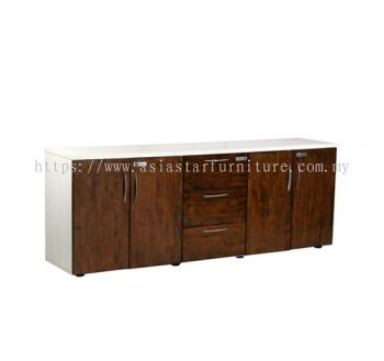 TEZAR LOW CABINET SWINGING DOOR & PEDESTAL 3D