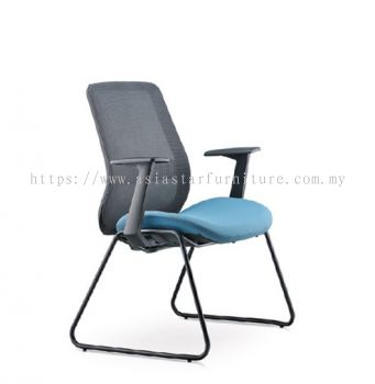 ALAMO VISITOR LOW BACK MESH CHAIR FIXED ARMREST C/W EPOXY BLACK CANTILEVER BASE AM8713N-96EA72