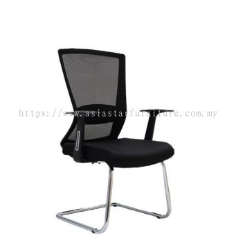 WILLY 1 VISITOR MESH BACK CHAIR C/W CHROME CANTILEVER BASE & FIXED ARMREST