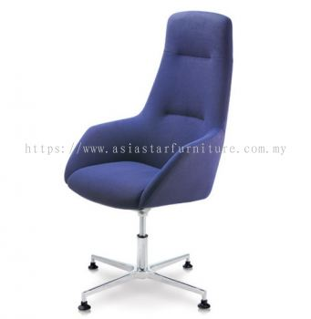 ANTHOM EXECUTIVE HIGH BACK CHAIR C/W ALUMINIUM BASE WITH STUD AT6610F-15