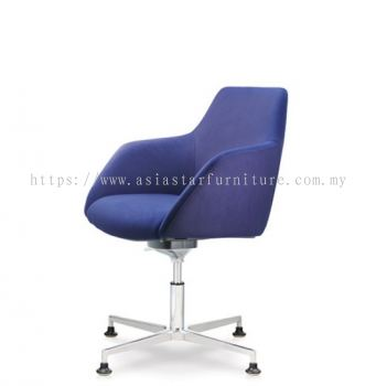 ANTHOM EXECUTIVE LOW BACK CHAIR C/W 4 PRONGED ALUMINIUM BASE WITH STUD AT6612F-15