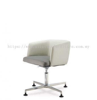 ANTHOM EXECUTIVE LOW BACK CHAIR C/W 4 PRONGED ALUMINIUM BASE WITH STUD AT6632L-15