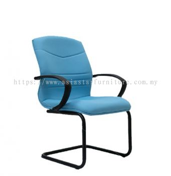 ROBINIA STANDARD VISITOR LOW BACK CHAIR C/W EPOXY BLACK CANTILEVER BASE