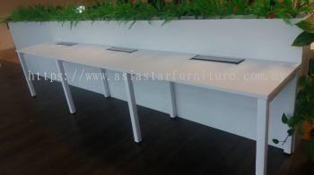 DELIVERY & INSTALLATION OFFICE WORKSTATION TABLE METAL N LEG C/W FLIPPER BOX OFFICE FURNITURE BANDAR PUCHONG JAYA, PUCHONG