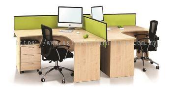 EXTON 6' L SHAPE OFFICE TABLE COMBINE TO CLUSTER OF 2 WORKSTATION SET- L shape table set Kajang | L shape table set Semenyih | L shape table set Bangi