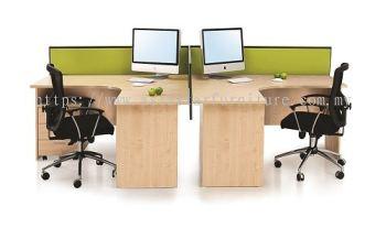 EXTON 6' L SHAPE OFFICE TABLE COMBINE TO CLUSTER OF 2 WORKSTATION SET- L shape table set Kepong | L shape table set Batu Caves | L shape table set Gombak