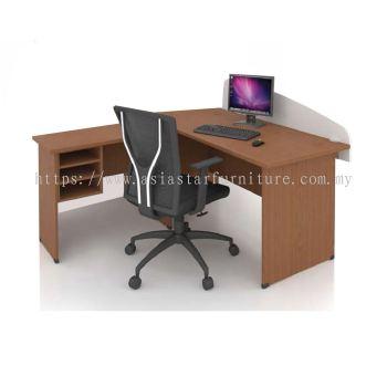 FOBIS 6' OFFICE TABLE C/W SIDE TABLE & RETURN RACK - office table Bandar Baru Klang | office table Port Klang | office table Bandar Botanic