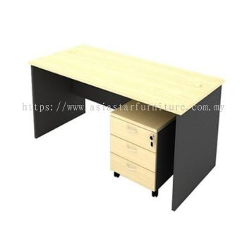 6' Office Table/desk | Study Table | Computer Table c/w Mobile Pedestal 3D - study/office table Nilai | study/office table Seremban | study/office table Sepang