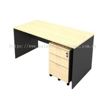 6' Office Table/desk | Study Table | Computer Table c/w Mobile Pedestal 2D1F- study/office table Sungai Buloh | study/office table Direct Factory | study/office table Manufacturer