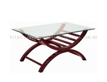 RECTNGULAR COFFEE TABLE C/W TEMPERED GLASS TABLE TOP ACL 9955-5T