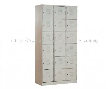A115-A 18 COMPARTMENT STEEL LOCKER