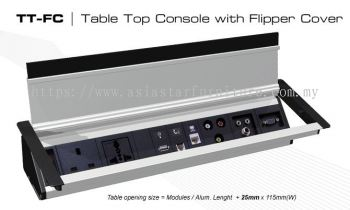 TABLE CONSOLE WITH FLIPPER COVER 1