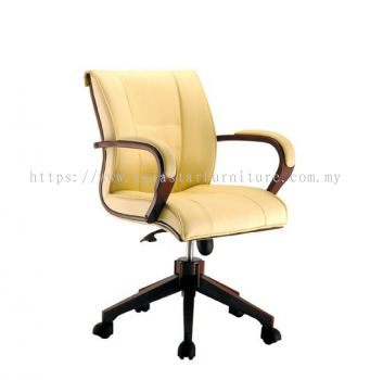 MECO B LOW BACK CHAIR C/W WOODEN TRIMMING LINE ACL 1066(B)