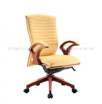 VIO ll WOODEN MEDIUM BACK CHAIR C/W WOODEN TRIMMING LINE ACL 9077