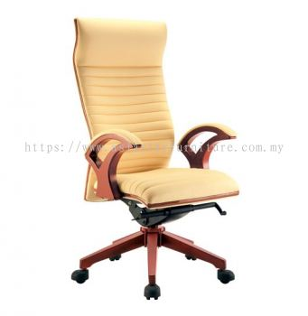 VIO ll WOODEN HIGH BACK CHAIR C/W WOODEN TRIMMING LINE ACL 9088