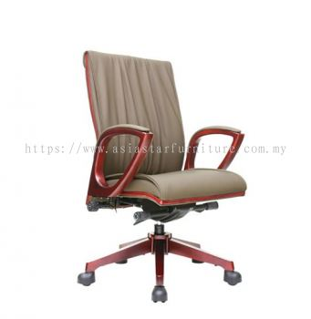 WONO ll WOODEN MEDIUM BACK CHAIR C/W WOODEN TRIMMING LINE ACL 7703